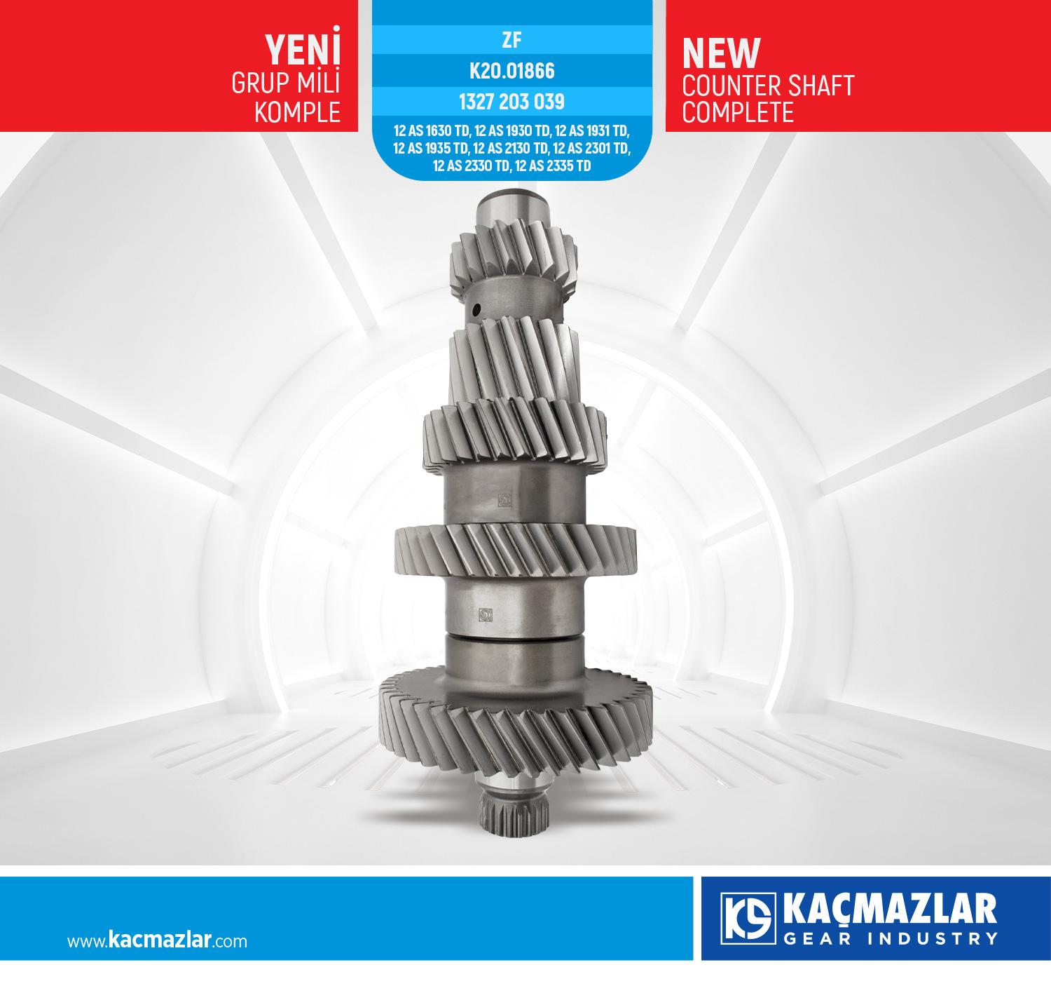 GRUP MİLİ KOMPLE - COUNTER SHAFT COMPLETE / ZF
